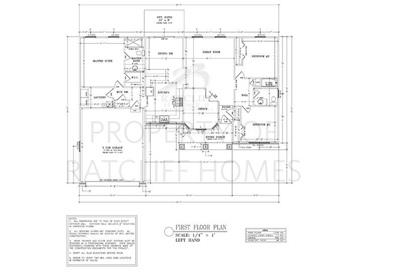 Floor plan for Dogwood plan