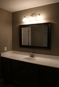 Custom bathroom in new home