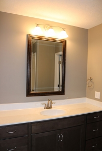 Custom bathroom in new home