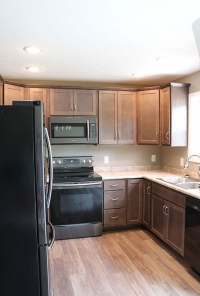 Custom kitchen in new home